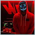 """Светящаяся неоновая LED маска """"Судная ночь""""   Светящаяся маска   Синяя, фото 9"""