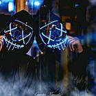 """Светящаяся неоновая LED маска """"Судная ночь""""   Светящаяся маска   Красная, фото 8"""