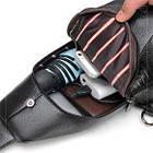Мужская сумка - кобура через плечо Alligator | Коричневая, фото 4