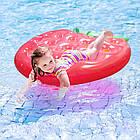 Пляжный надувной матрас - плот Клубника, диаметр 1,4*1,4m, фото 4