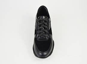 Кроссовки женские черные кожа U.Spirit 301, фото 3