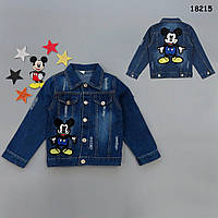 Джинсовый пиджак Mickey Mouse для мальчика. 100, 110, 120, 130 см