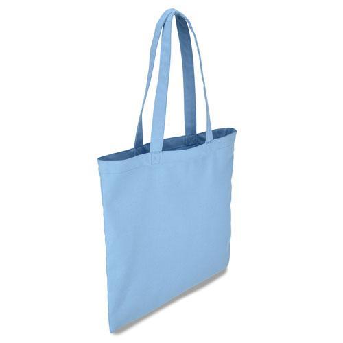 Эко-сумка из хлопка светло-голубая (38х40 см), шоппер, сумка для покупок
