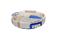 Лежак (лежанка) для кошек и собак №1 Мур-Мяу Бежевый с синим