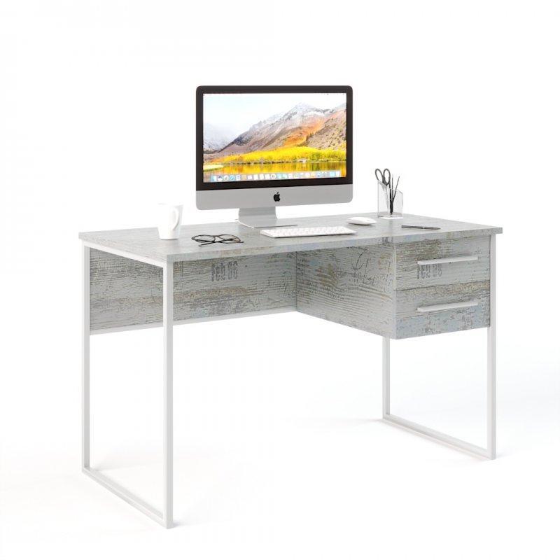 Письменный стол в стиле лофт (Универ 5 белый)