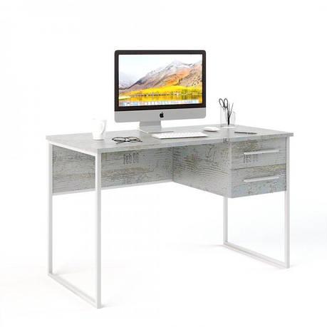 Письменный стол в стиле лофт (Универ 5 белый), фото 2