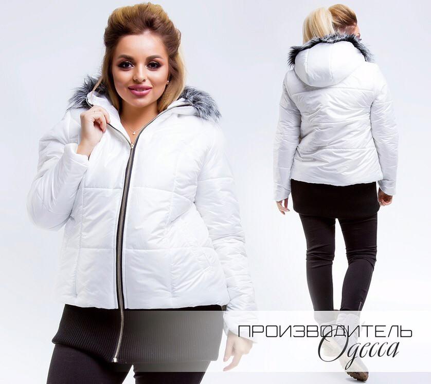 Женская куртка плащевка на синтепоне 150 подкладка овчина размер: от 46 по 56