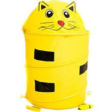 Корзина для игрушек Кот(желтая)