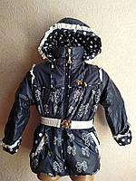 Куртка-пальто Бант для девочки 2-5 лет демисезонная, фото 1