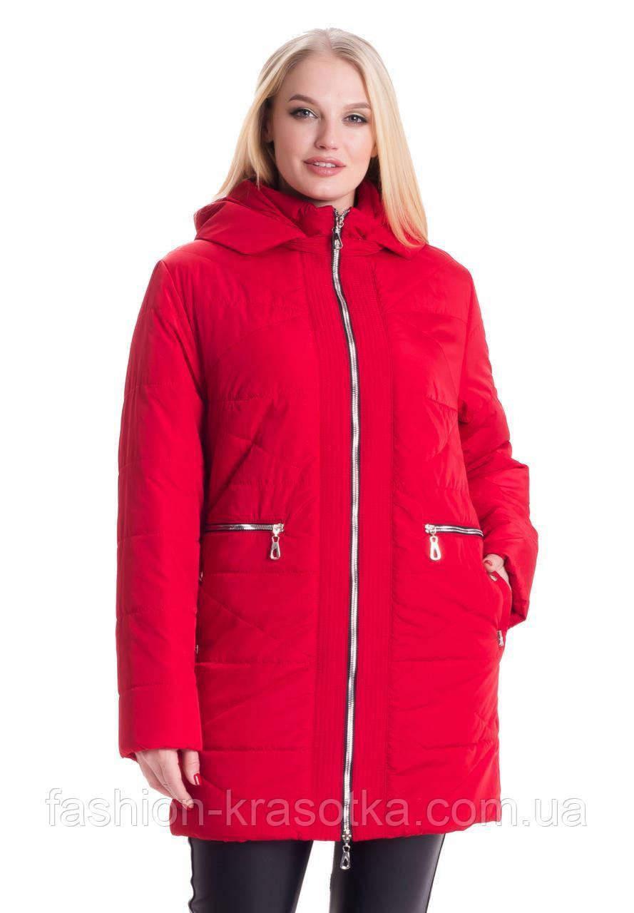 Женская демисезонная куртка больших размеров:54-70.