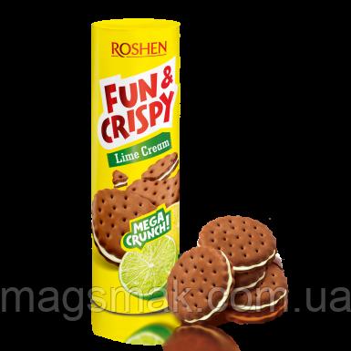 Печенье Fun & Crispy с лаймовой начинкой, 135 г