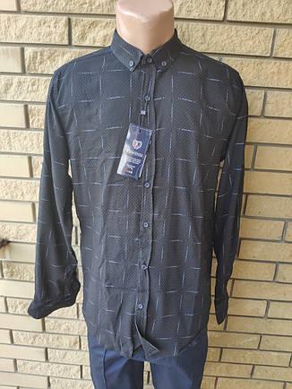 Рубашка мужская коттоновая стрейчевая брендовая высокого качества REWINSS, Турция, фото 2