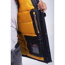 Зимная  куртка / пуховик  мужская с кнопками UG 49 модель черная розмір  50 52 54 56 58 60 62 64 66 68, фото 2
