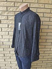 Рубашка мужская коттоновая стрейчевая брендовая высокого качества REWINSS, Турция, фото 3