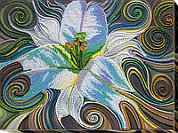 """Набор для вышивки бисером на натуральном художественном холсте """"Принцесса флоры"""""""