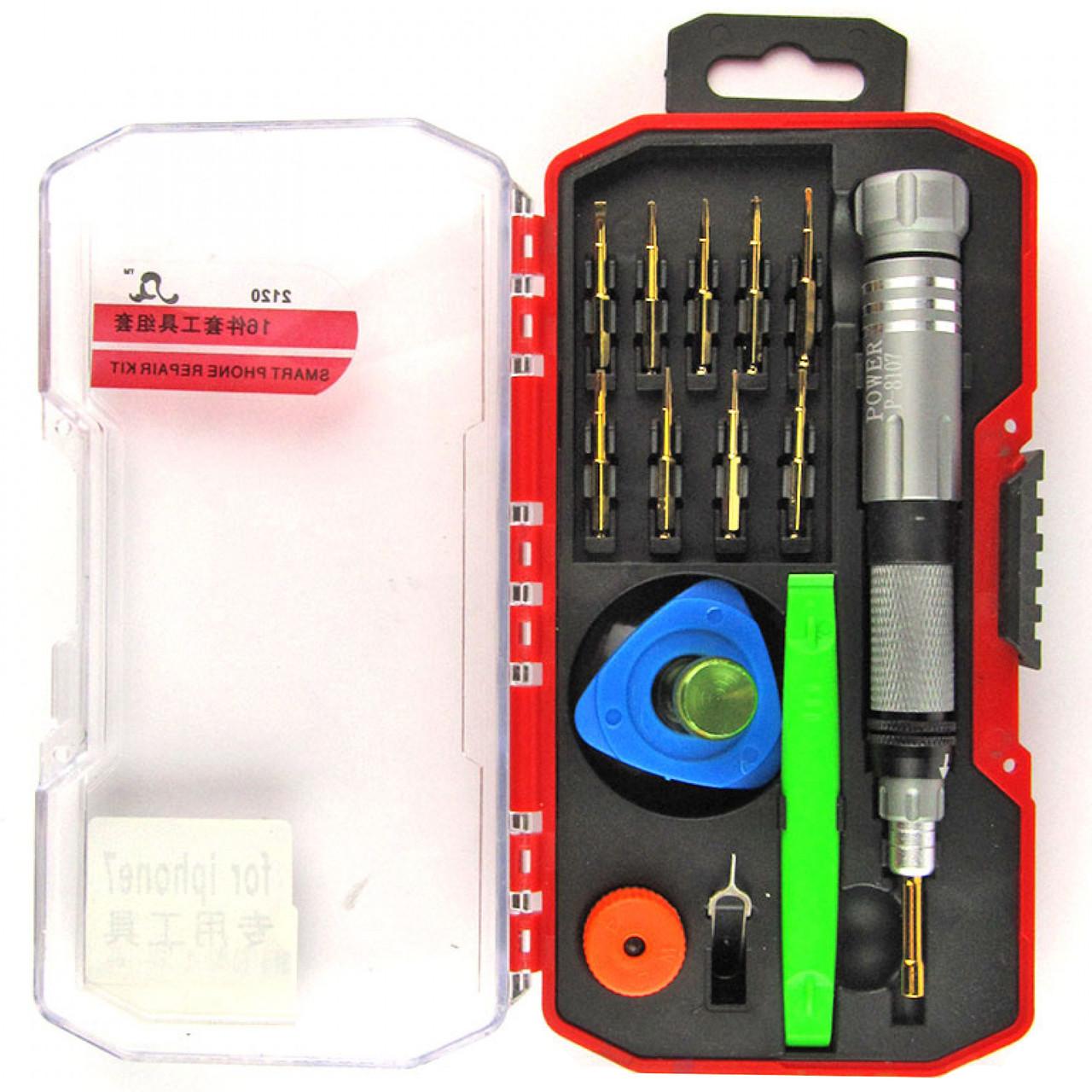 Набор инструментов P-8107 16в1 для IPhone и других смартфонов