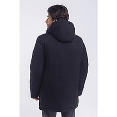 Зимная  куртка / пуховик  мужская с кнопками UG 49 модель черная розмір  50 52 54 56 58 60 62 64 66 68, фото 3