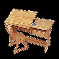 Парта растишка Lux и стул (ширина 120см).Mobler, фото 1