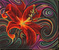 """Набор для вышивки бисером на натуральном художественном холсте """"Чудесная лилия"""""""