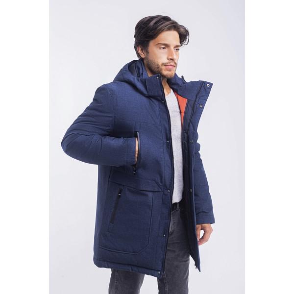 Зимная  куртка / пуховик  мужская с кнопками UG 49 модель джинс розмір 46 48  50 52 54 56 58 60 62 64 66 68