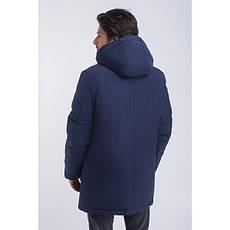 Зимная  куртка / пуховик  мужская с кнопками UG 49 модель джинс розмір 46 48  50 52 54 56 58 60 62 64 66 68, фото 3