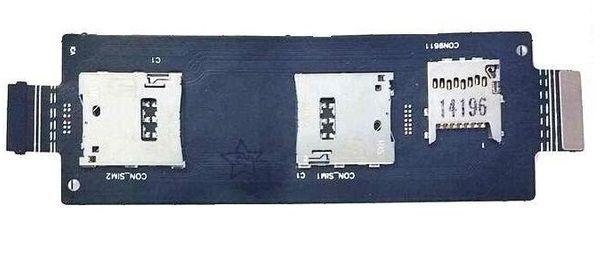 Шлейф Asus ZenFone 2 (ZE551ML) с разъемом SIM-карты и карты памяти Original