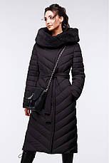 Зимовий жіночий пуховик / пальто Фелиция 2 т.синій  розмір 44 46 48 50 52 54 56 58 60, фото 3