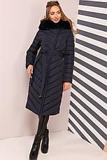 Зимовий жіночий пуховик / пальто Фелиция 2 чорний  розмір 44 46 48 50 52 54 56 58 60, фото 3