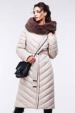 Зимовий жіночий пуховик / пальто Фелиция 2 чорний  розмір 44 46 48 50 52 54 56 58 60, фото 2