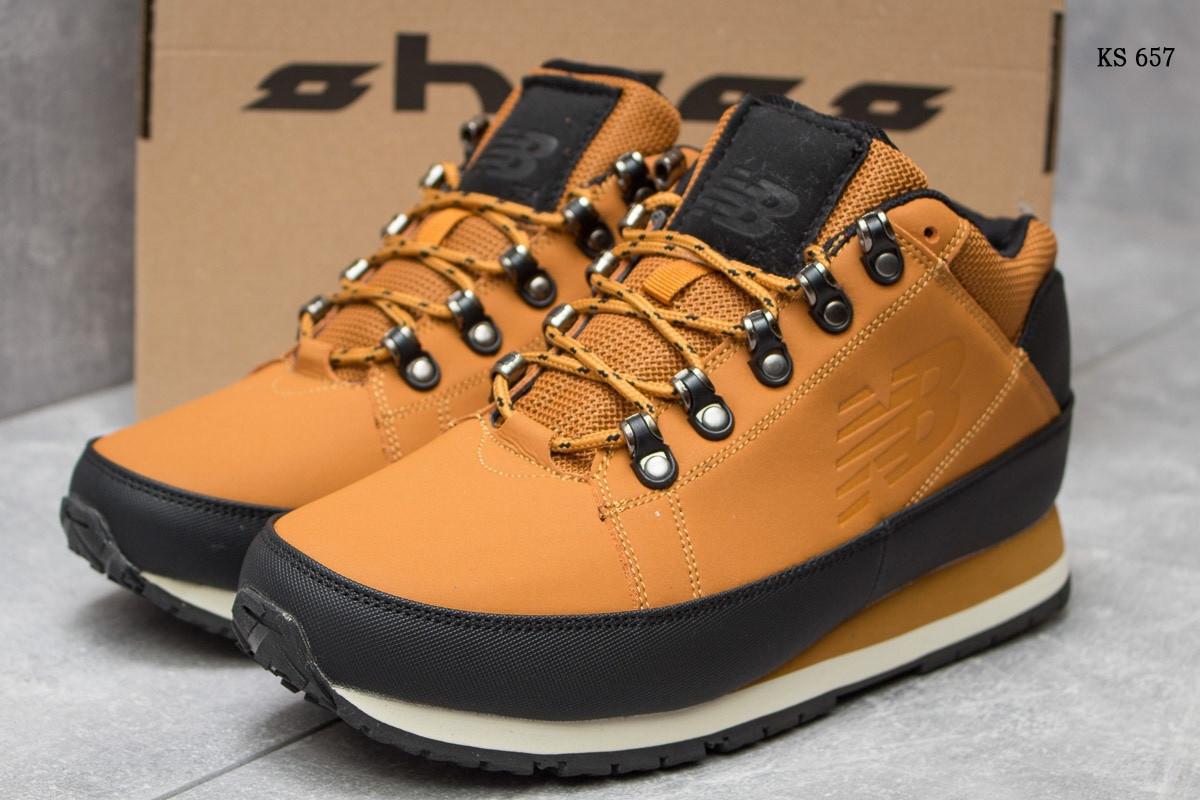 Мужские зимние кроссовки в стиле New Balance 754, рыжие 46 (29,2 см)