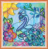 Набор для вышивки бисером на натуральном художественном холсте Птица счастья