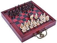 Шахматы антиквариат Китайский Дракон (23х25 см) №2027B+B
