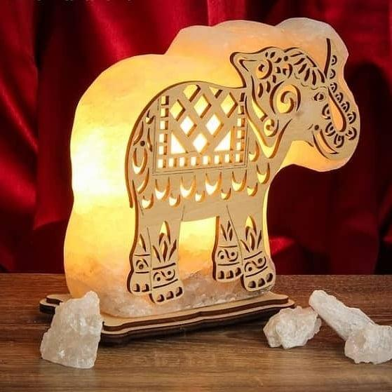 """Соляна лампа світильник """"Слон"""""""