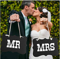 Фотобутафория MR & MRS фотосессия таблички