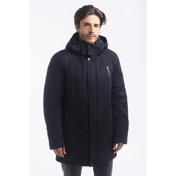 Зимная  куртка / пуховик  мужская с кнопками UG 50 модель черная розмір 46 48  50 52 54 56 58 60 62 64 66 68