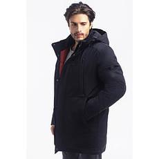 Зимная  куртка / пуховик  мужская с кнопками UG 50 модель черная розмір 46 48  50 52 54 56 58 60 62 64 66 68, фото 2