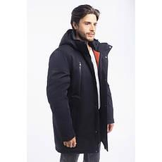 Зимная  куртка / пуховик  мужская с кнопками UG 50 модель черная розмір 46 48  50 52 54 56 58 60 62 64 66 68, фото 3