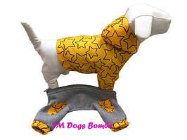 Комбинезон-трансформер для собак, желтый