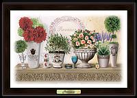 """Еко-картина """"Прованс"""" Букети жоржин та троянд"""