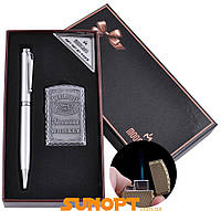 Подарочный набор ручка, зажигалка (Острое пламя) №BX-002B