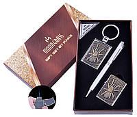 Подарочный набор Паук Ручка/ Брелок/ Зажигалка (Острое пламя) №AL-203A-2