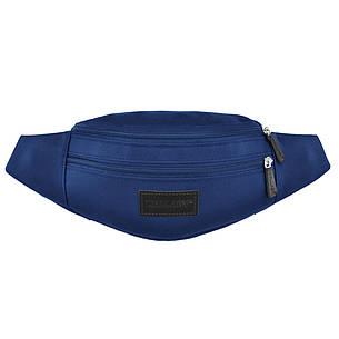 Сумка на пояс Wallaby 32х12х8 ткань Оксфордцвет синий в 2902син, фото 2