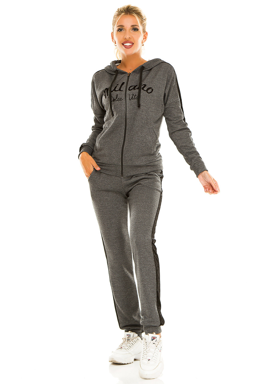 Спортивный костюм 724 темно-серый