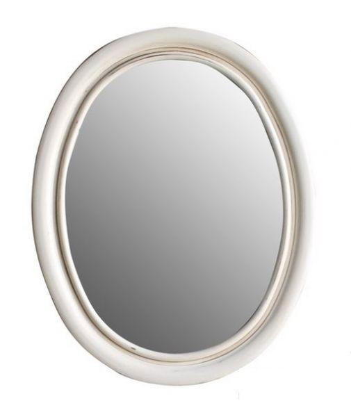 Зеркало Атолл Флоренция слоновая кость состаренная, 740х30х960 мм