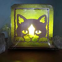 "Соляна лампа світильник ""Котик"""
