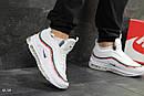 Мужские зимние кроссовки на меху в стиле Nike 97, белые 44 (28,3 см), фото 2