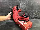 Мужские зимние кроссовки на меху в стиле Nike 97, красные 44 (28,3 см), фото 4