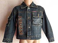 Джинсовая куртка рубашка мальчику Армани 2-4 года, фото 1