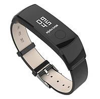Кожаный ремешок Primo Mijobs для фитнес-браслета Huawei Honor Band 4 / 5 - Black, фото 1