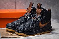 Мужские зимние кроссовки в стиле Nike LF 1 Duckboot, термоносок, тёмнo-cиние 44 (28,5 см)
